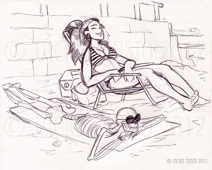 Sketch-urday: Beach
